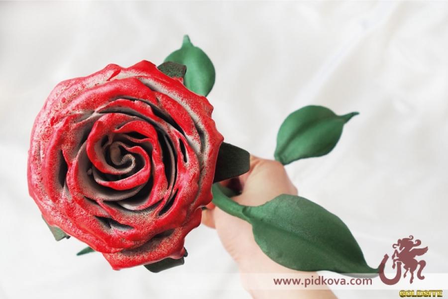 Кованая роза.  Ручная работа.