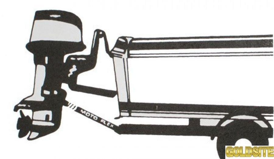 Упор для транспортировки лодочного двигателя с упором в ролик.