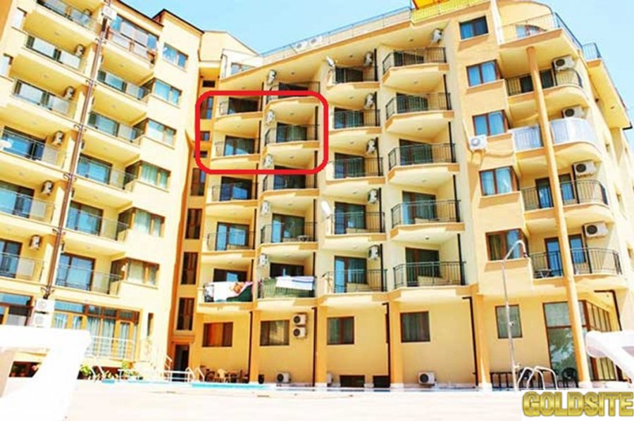 Продаётся квартира с 1 спальней в Болгарии,  на Солнечном берегу,  в к-се Амадеус 5 - по цене студии